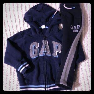 Gap zip sweatshirt and sweatpants navy blue.